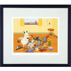 【複製版画】バムとケロ おもちゃでいっぱい