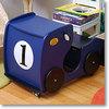 デスク&チェアー レーシングカー ブルー(ナンバープレート付き)