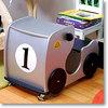 デスク&チェアー レーシングカー シルバー(ナンバープレート付き)