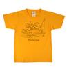 がまくんとかえるくん 100�pキッズ半袖Tシャツ ぼーと オレンジ