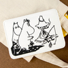 ムーミン 刺繍合皮カードケース (ホワイト)
