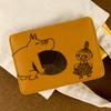 ムーミン 刺繍合皮カードケース (ブラウン)
