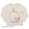 (130cm)はらぺこあおむし ロングスリーブTシャツ Sketch Apple ヘザーナチュラル