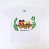 ルル・ロロ 130cmキッズT半袖Tシャツ レンガ(ホワイト)