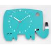 【直筆サイン入り】五味太郎 オリジナル時計  「ブルーグリーンのゾウ」
