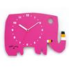 【直筆サイン入り】五味太郎 オリジナル時計  「ローズピンクのゾウ」
