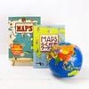 【MAPS】マップス 新・世界図絵とらくがきワークブック&ビーチボール地球儀30cmセット(ギフトラッピング込)