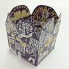 ミニアドベントカレンダー グリーティングカード <おうち> 紫