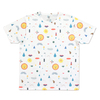 (L)tupera tupera Tシャツ かおノート サン パターン