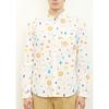 (S)tupera tupera 長袖シャツ 刺繍 かおノート サン パターン