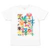 (L)tupera tupera Tシャツ 鳥と花
