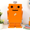【絵本ナビ限定カラー】卓上型サラウンド収納ロボ PICO(ピコ) オレンジ