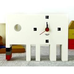 【直筆サイン入り】五味太郎 オリジナル置き時計  「白いゾウ」