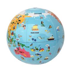 ビーチボール地球儀 世界探検 30cm