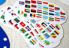 リングカード・国旗|絵本ナビ ... : 世界地図 国旗入り : 世界地図