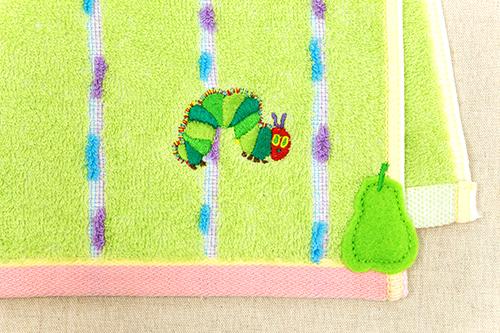 はらぺこあおむし ウォッシュタオル オーガニック フレッシュ グリーンの商品画像3