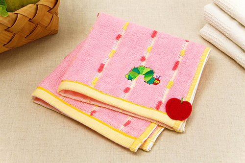 はらぺこあおむし ウォッシュタオル オーガニック フレッシュ ピンクの商品画像2