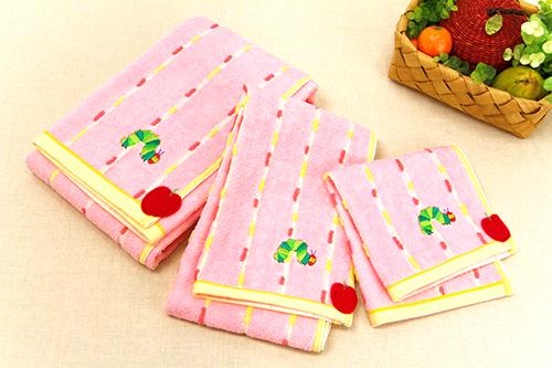 はらぺこあおむし ウォッシュタオル オーガニック フレッシュ ピンクの商品画像6