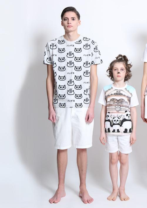 (M)tupera tupera Tシャツ パンダ銭湯 パターンの商品画像3