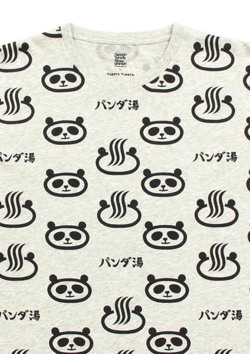 (M)tupera tupera Tシャツ パンダ銭湯 パターンの商品画像4