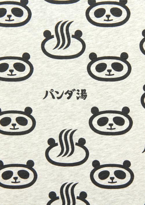 (M)tupera tupera Tシャツ パンダ銭湯 パターンの商品画像5