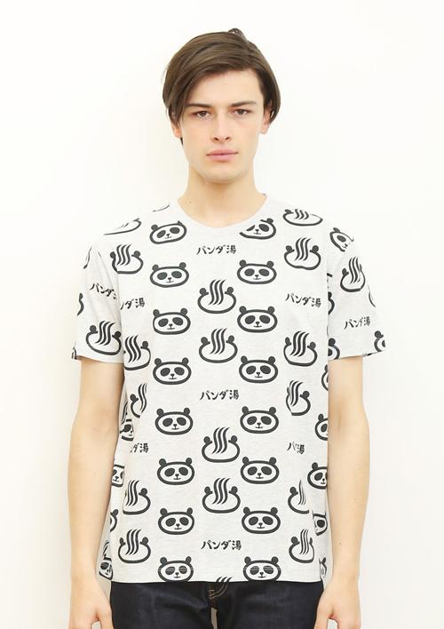 (M)tupera tupera Tシャツ パンダ銭湯 パターンの商品画像7