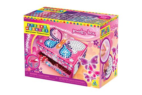 ボーネルンド スティッキーモザイク バタフライ ジュエリーボックスの商品画像3