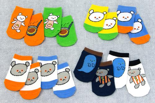 こぐまちゃん キッズソックス おかお (オレンジ)の商品画像5