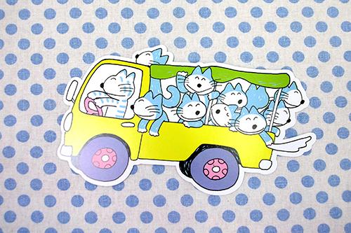 11ぴきのねこ ダイカットポストカード トラック