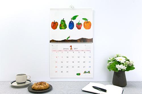 2017 エリック・カール 壁掛けカレンダー(シール付き)の商品画像1