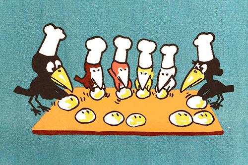 (F)からすのパンやさん エプロン ブルーの商品画像4