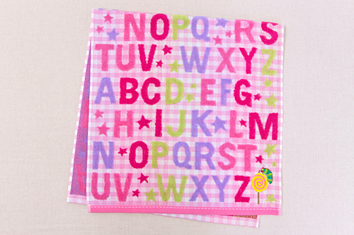 はらぺこあおむし コンパクトバスタオル キャンディ ピンクの商品画像4