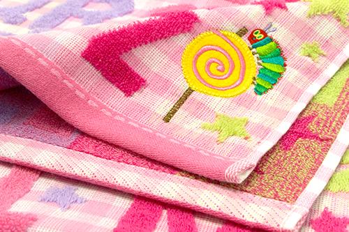 はらぺこあおむし コンパクトバスタオル キャンディ ピンクの商品画像6