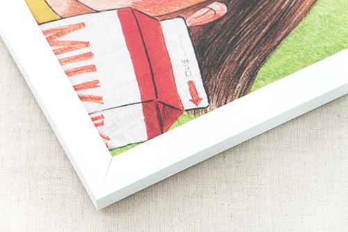 林 明子 ガーゼハンカチ はじめてのおつかい&フレームセット 白の商品画像2