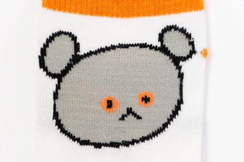 こぐまちゃん キッズソックス おかお (オレンジ)の商品画像3