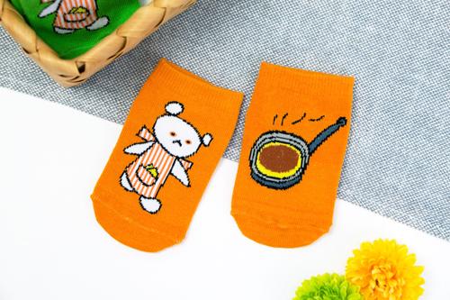 しろくまちゃんのほっとけーき キッズソックス(オレンジ)