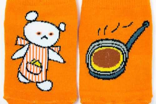 しろくまちゃんのほっとけーき キッズソックス(オレンジ)の商品画像3