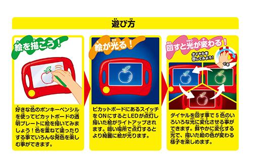 おえかきピカットボード専用色鉛筆 ポンキー 12色セットの商品画像3