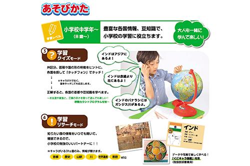 【40%OFF】くにキャラ地球儀の商品画像4