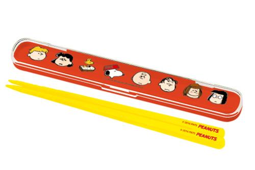 スヌーピー 箸&ケースセット16.5cm メニーフェイス
