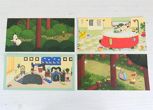 バムとケロ ポストカード かばんうりのガラゴ たびするの商品画像4