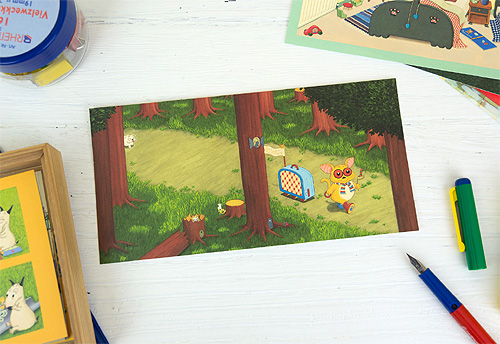 バムとケロ ポストカード かばんうりのガラゴ たびするの商品画像1