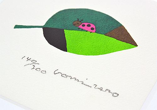 【直筆サイン入り版画】 五味太郎 てんとうむしの商品画像2