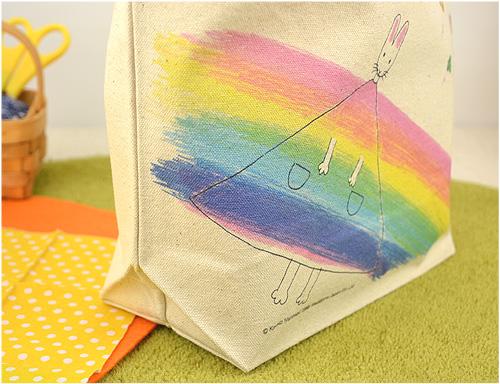 わたしのワンピース ミニトートバッグ 虹のワンピースの商品画像3