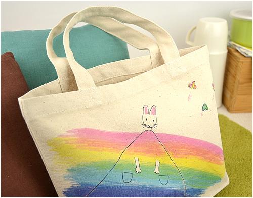 わたしのワンピース ミニトートバッグ 虹のワンピースの商品画像6
