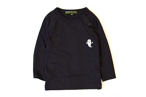 (XL)せなけいこ 長袖Tシャツ ねないこだれだ刺繍 ブラックの商品画像2