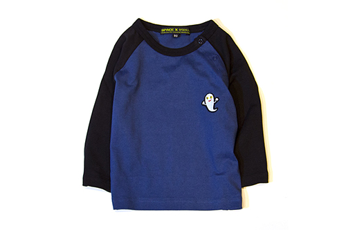 (S)せなけいこ 長袖Tシャツ ねないこだれだ刺繍 ネイビーの商品画像2