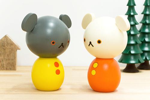 卯三郎こけし こぐまちゃんこけし(2体セット)の商品画像2