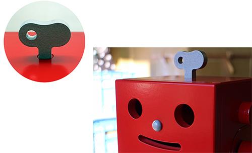 卓上型サラウンド収納ロボ PICO(ピコ) レッドの商品画像5