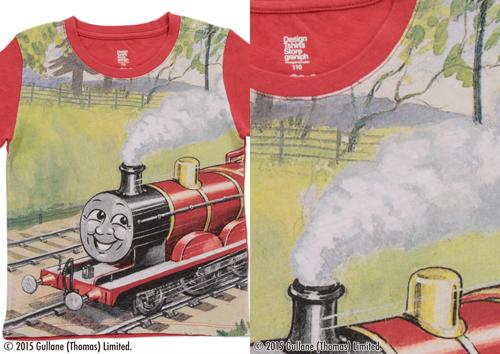 (90cm)きかんしゃトーマスTシャツ(ジェームス レッド)の商品画像3